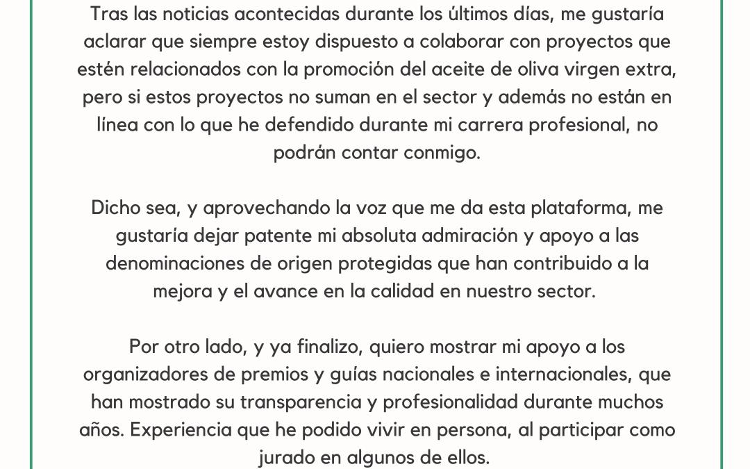 Comunicado de Marino Uceda